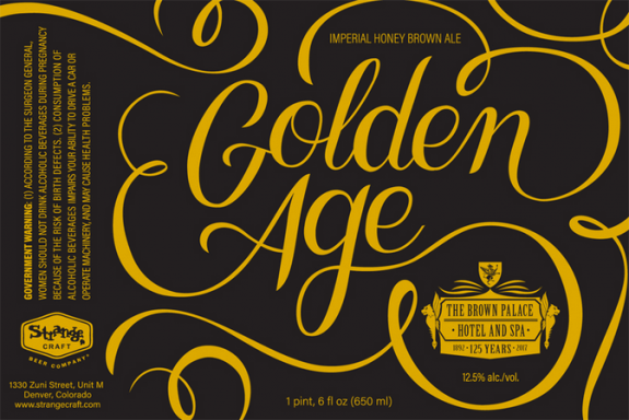 The brown palace golden age 125th anniversary imperial for Strange craft beer company